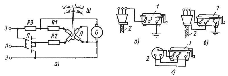 Мегаомметр и схема измерения