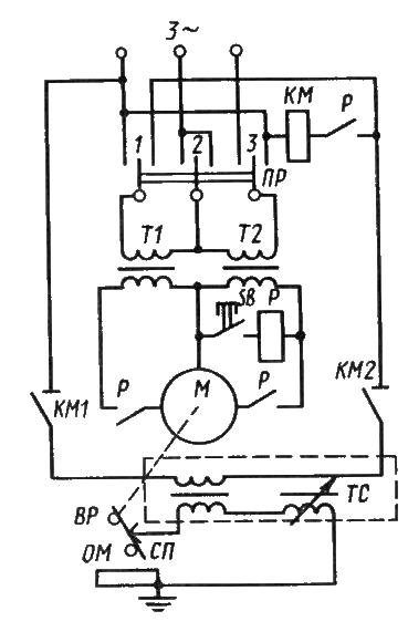 Электрическая схема шагового