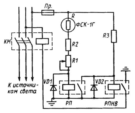 Схема фотореле типа ФР-1