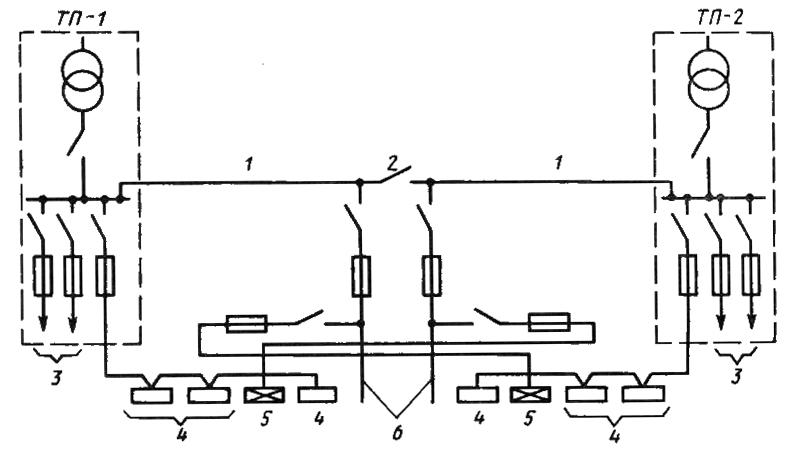 Схема осветительной сети при