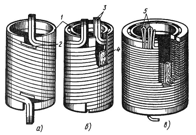 Конструкции цилиндрических обмоток силовых трансформаторов