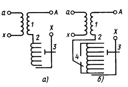 Схемы трансформаторов с РПН