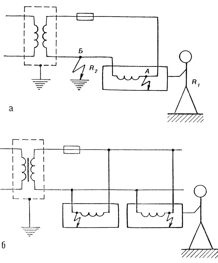 Схема включения разделяющих трансформаторов